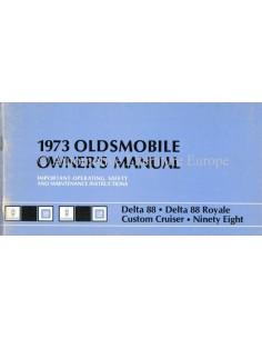 1973 OLDSMOBILE BETRIEBSANLEITUNG ENGLISCH