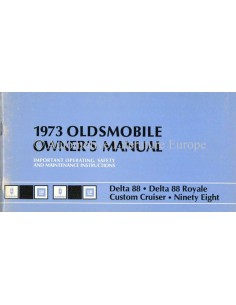 1973 OLDSMOBILE OWNERS MANUAL HANDBOOK ENGLISH