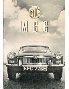 1969 MG MGC BETRIEBSANLEITUNG ENGLISCH