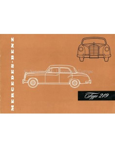 1957 MERCEDES BENZ 219 BROCHURE GERMAN