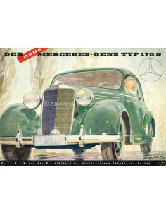 1950 MERCEDES BENZ 170S BROCHURE DUITS