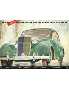 1950 MERCEDES BENZ 170S PROSPEKT DEUTSCH