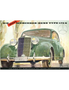 1951 MERCEDES BENZ 170S BROCHURE NEDERLANDS