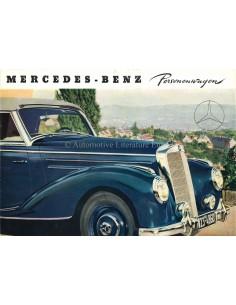 1952 MERCEDES BENZ PERSONENWAGENS BROCHURE DUITS