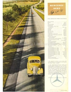 1951 MERCEDES BENZ 170D BROCHURE DUITS