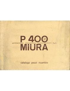 1966 LAMBORGHINI MIURA P400 ONDERDELENBOEK ITALIAANS