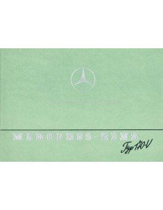 1940 MERCEDES BENZ 170V BROCHURE DUITS