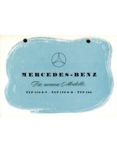 1953 MERCEDES BENZ DIE NEUEN MODELLE PROSPEKT DEUTSCH