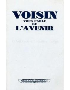 1936 VOISIN PROGRAMMA BROCHURE FRANS