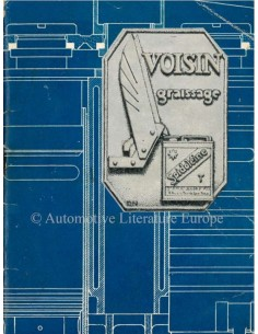 1932 VOISIN RANGE OWNERS MANUAL FRENCH