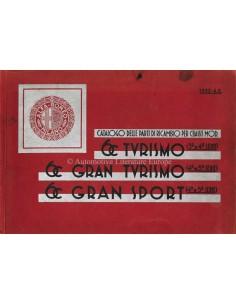 1932 ALFA ROMEO 6C 1750 GRAN / TURISMO & GRAN SPORT SPARE PARTS MANUAL ITALIAN