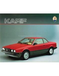 1989 MASERATI KARIF BROCHURE DUITS