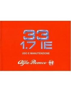1989 ALFA ROMEO 33 1.7 OWNERS MANUAL HANDBOOK ITALIAN