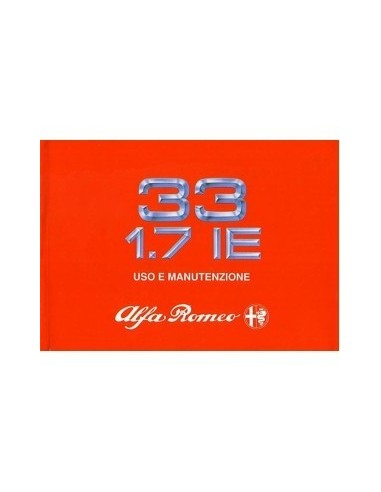 1989 ALFA ROMEO 33 1.7 INSTRUCTIEBOEKJE ITALIAANS
