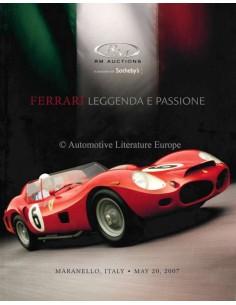 2007 RM AUCTIONS FERRARI LEGGENDA E PASSION AUKTION KATALOG