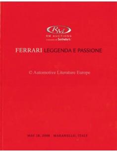 2008 RM AUCTIONS FERRARI LEGGENDA E PASSION AUKTION KATALOG