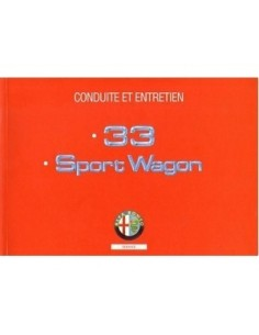 1993 ALFA ROMEO 33 + SPORTWAGON OWNERS MANUAL HANDBOOK FRENCH