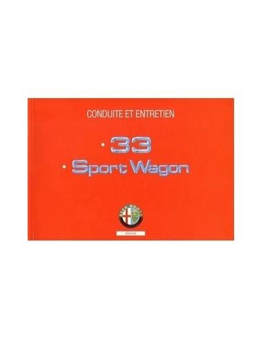 1993 ALFA ROMEO 33 + SPORTWAGON INSTRUCTIEBOEKJE FRANS