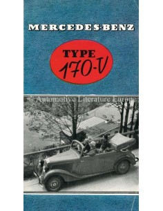 1937 MERCEDES BENZ 170V BROCHURE DUTCH
