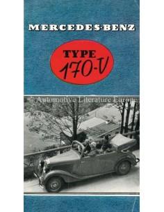 1937 MERCEDES BENZ 170V PROSPEKT NIEDERLÄNDISCH