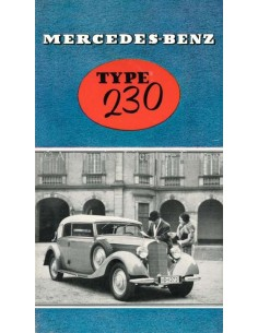 1937 MERCEDES BENZ 230 BROCHURE DUTCH