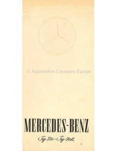 1937 MERCEDES BENZ 320 + 540K BROCHURE DUITS