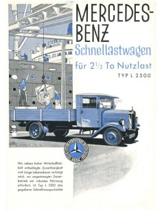 1930 MERCEDES BENZ L 2500 BROCHURE GERMAN