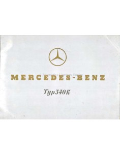 1938 MERCEDES BENZ 540K BROCHURE DUITS