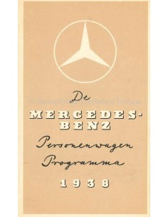 1938 MERCEDES BENZ PERSONENWAGEN PROGRAMMA BROCHURE DUTCH