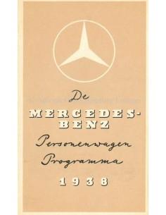 1938 MERCEDES BENZ PERSONENWAGEN PROGRAMMA PROSPEKT NIEDERLÄNDISCH