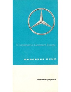 1961 MERCEDES BENZ RANGE BROCHURE GERMAN