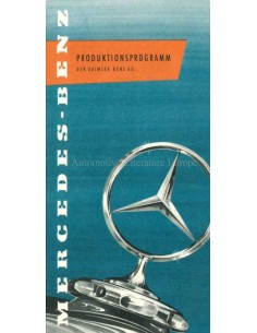 1957 MERCEDES BENZ RANGE BROCHURE GERMAN