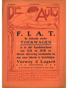1910 DE AUTO MAGAZINE 40 DUTCH