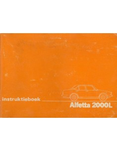1979 ALFA ROMEO ALFETTA 2000L OWNERS MANUAL DUTCH