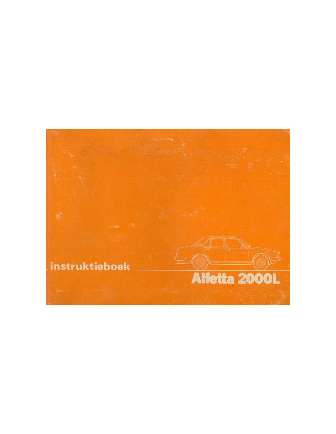 1979 ALFA ROMEO ALFETTA 2000L OWNERS MANUAL DUTCH
