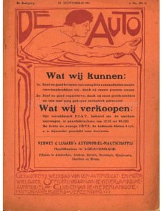 1911 DE AUTO MAGAZINE 38 DUTCH