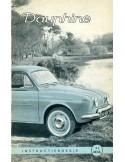 1960 RENAULT DAUPHINE INSTRUCTIEBOEKJE NEDERLANDS