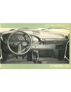 1976 CITROEN GS BETRIEBSANLEITUNG NIEDERLÄNDISCH