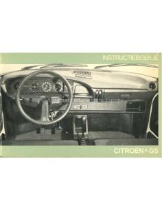 1976 CITROEN GS OWNERS MANUAL DUTCH