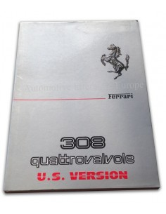 1983 FERRARI 308 GTB & GTS QUATTROVALVOLE OWNERS MANUAL US VERSION 260/83
