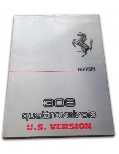 1983 FERRARI 308 GTS & GTB QUATTROVALVOLE INSTRUCTIEBOEKJE US EDITIE 260/83