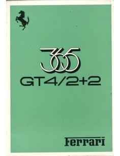 1973 FERRARI 365 GT4 / 2+2 OWNERS MANUAL 75/73