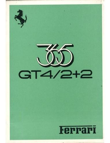 1973 FERRARI 365 GT4 / 2+2 INSTRUCTIEBOEKJE 75/73