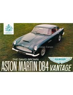 1962 ASTON MARTIN DB4 VANTAGE DATENBLATT