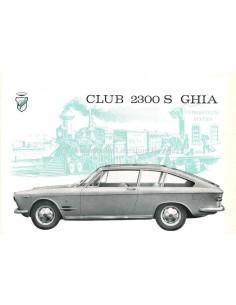 1962 GHIA FIAT 2300 S CLUB BROCHURE ITALIAANS