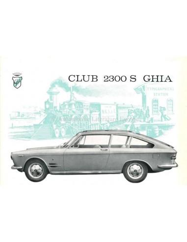 1962 GHIA FIAT 2300 S CLUB BROCHURE ITALIAN