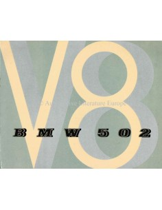 1954 BMW 502 V8 BROCHURE ENGLISH