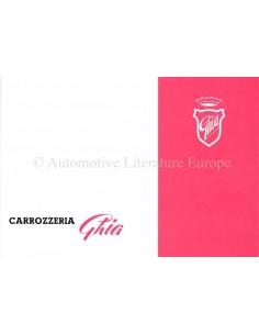 1954 GHIA 1100 T.V. COUPÉ PROSPEKT ITALIENISCH / ENGLISCH