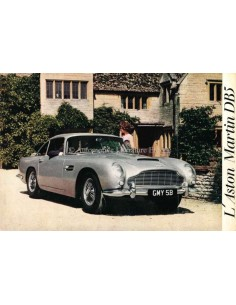 1963 ASTON MARTIN DB5 BROCHURE