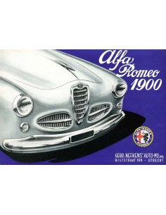 1954 ALFA ROMEO 1900 BROCHURE DUTCH